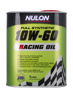 Nulon Racing Oil Full Synthetic 10W-60 1L NR10W60-1 fits Maserati Ghibli 2.0 ...