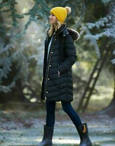 NEW JOULES CHERINGTON Long Quilted Jacket Choice of Colour / Size - SEE DESC