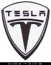 TESLA Aufnäher Patches Auto Elektrofahrzeug Roadster Model S X BLITZVERSAND