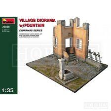 MiniArt 1 35 Village Diorama With Fountain Model Kit