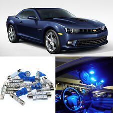 For 2010-2015 Chevrolet Camaro Premium Blue LED Interior Lights Kit 6 Pieces