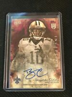 2014 Topps Inception Red Parallel Brandin Cooks Rookie RC Auto 15/50 Saints NM/M