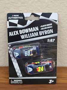 2020 Wave 1 Alex Bowman William Byron Axalta 1/87 NASCAR Authentics Twin Pack