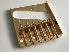 Gold Tele Telecaster Vintage Style Bridge with Individual Brass saddles