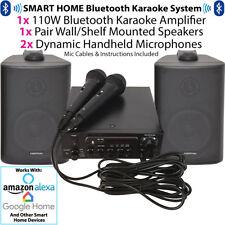 Bluetooth KARAOKE sistema/KIT-Wireless Amplificatore/Lettore-Altoparlanti & Microfoni