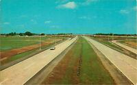 Postcard Elkhart Interhange Indiana East-West Toll Road