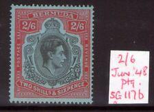 BERMUDA George VI SG117b June. 48 Ptg  lightly hinged fresh colours.