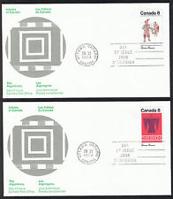 Set of 2 Canada First Day Covers - Indians of Canada 1973 Stamps sg733 & sg734
