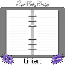 Kalendereinlagen Liniert in Personal, Terminplaner, filofaxing, Notizen, refill