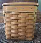 longaberger tall tissue basket with woodcraft lid Excellent!