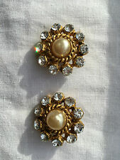 CLASSIC  CHANEL CLIP ON EARRINGS ABSOLUTELY GORGEOUS AUTHENTIC