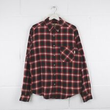 Vintage WOOLRICH Red Check Shirt Size Mens Medium