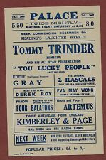 Palace. Tommy Trinder. 'You Lucky People' Kimberley & Page. 1930's  s231