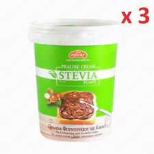 3 pack Oscar Hazelnut Spread Sugar Free with Stevia 400gr for chocolate lovers