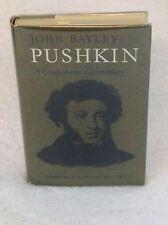 John Bayley PUSHKIN A Comparative Commentary Cambridge University Press 1973