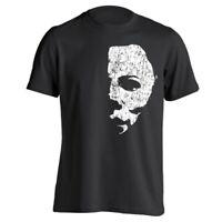 Halloween Scary Face Mask Mask  Movie  Retro Horror Black Basic Men's T-Shirt