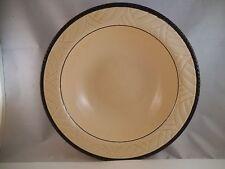 "Vintage Sheffield Ware Blue Black Rope Trim 8"" Round Vegetable Bowl A"