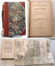 1897 Structure & Distribution of Coral Reefs Charles Darwin w/Maps 3rd Edition