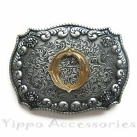 "Initial Letter ""O"" Cowboy Rodeo Western Metal Belt Buckle"