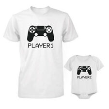 Father Son t-shirt set dad and baby daddy newborn gifts for mom boys guy men