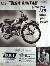 1956 Motor Cycles ADVERT - B.S.A. 'Bantam' & 'Dandy Light Scooter' Print AD #2