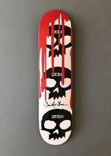 Zero 3-skull w Blood Deck Signed by Jamie Thomas