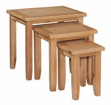 Square No Assembly Required 60cm-80cm 3 Nested Tables