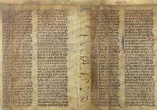 MITTELALTERLICHE LATEINISCHE PERGAMENT-HANDSCHRIFT,BIBEL,BUCH EZECHIEL,UM 1420