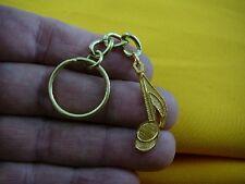 (M332-B) EIGHTH 8th NOTE 24k GOLD plt Jewelry KEYRING I love making music