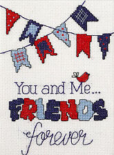Cross Stitch Kit ~ My 1st Stitch Beginner You and Me Friends Forever #46269E