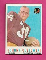 1959 TOPPS # 115 REDSKINS JOHNNY OLSZEWSKI NRMT+  CARD (INV# C0419)
