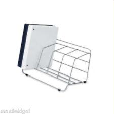Used  Wire Desk Top file, 4 slots - spot weld, Chrome look wire, w/warranty