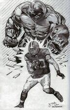 "Peyton Hillis ""Juggernaut"" in Cleveland Browns jersey - poster picture print art"