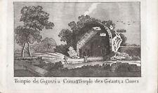 TEMPIO MASSERIA GIGANTE CUMA NAPOLI - Incisione Originale Mariano Vasi 1821