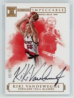 2016-17 KIKI VANDEWEGHE 65/99 AUTO PANINI IMPECCABLE INDELIBLE INK AUTOGRAPHS