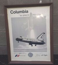SIGNED 81 SPACE SHUTTLE COLUMBIA  NATIONAL SPACE INSTITUTE POSTER PHOTOGRAPH