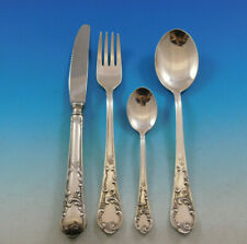 German 800 Silver Flatware Set by Nica Service for 6 Dinner 30 pieces