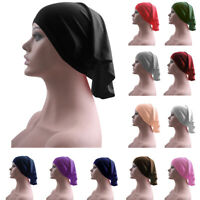 Muslim Hijab Under Scarf Cap Tube Bonnet Inner Cap Bone Head Cover Hat Islamic