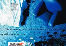 PUBLICITE ADVERTISING 124  1988  SOMMER  moquette tapis ( 2p)