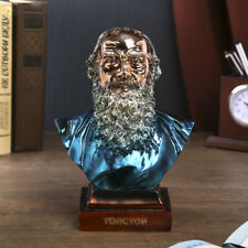 Lev Nikolayevich Tolstoy Color Bust Sculpture Statue Collectible Art Figurine