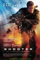 SHOOTER MOVIE POSTER Original DS 27x40 International Style MARK WAHLBERG
