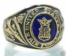 Made in USA Men's US Air Force Gold Plated Military Ring Size-11 '
