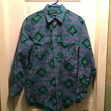 Wrangler Western Shirts Vintage Western Cowboy Shirt 16-33 Tribal Loud Colors!!