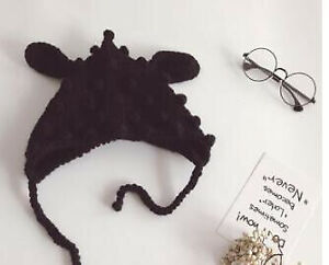 Baby Hat With Ears Winter Spring Cotton Knitted Cap Beanie Kids Head Accessory