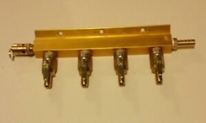 4 Way Air Manifold w/safety Taprite Home Beer Dispensing