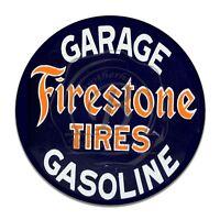 Vintage Design Sign Metal Decor Gas and Oil Sign - Firestone Tires Gasoline Oil