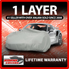 1 Layer Car Cover - Soft Breathable Dust Proof Sun UV Water Indoor Outdoor 1311