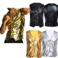 Men Costume personality Club singer vest rock Bar DJ sequined Waistcoat jacket
