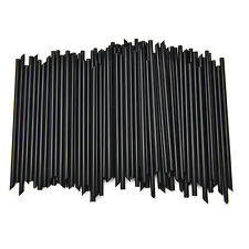 100X Black Plastic Cocktail Straws For Celebration Drinks Party Supplies GS