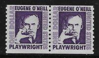 US Scott #1305C, PAIR 1973 Eugene O'Neill $1 FVF MNH